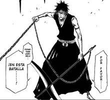 Hisagi interrunpe el combate de Komamura y Kaname