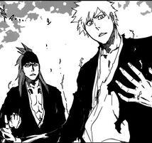 Ichigo y Renji en el Gatonden
