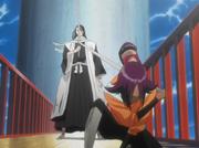 Shikai Byakuya dihentikan