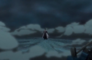 Kenpachi emerges from the explosion