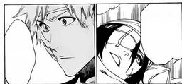 Rukia le da las gracias a Ichigo