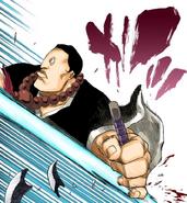 91Jirobo's Zanpakuto is shot