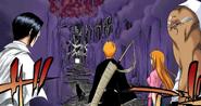 70Ichigo, Orihime, Sado, and Uryu enter