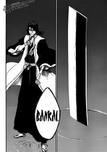 Byakuya activando su bankai
