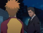 Isshin & Ichigo berbicara serius