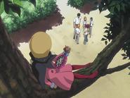 O67 Ririn obserwuje Ichigo, Renjiego, Uryu, Orihime i Kurodo