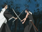 Kenpachi rompe la técnica de Ichinose
