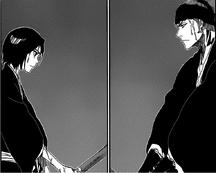 Renji y Rukia entrenando