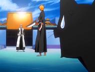 O22 Yoruichi zszokowana postawą Ichigo do Ichimaru