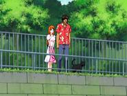 O18 Yoruichi rozmawia z Orihime i Sado