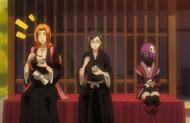 264Rangiku, Nanao, and Katen Kyokotsu eat