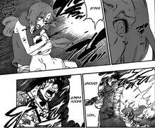 Orihime y Sado afectados por el poder de Kirge