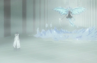 Reigai-Hitsugaya emerges from ice shield