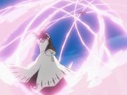 Byakuya mempercepat Senbonzakura