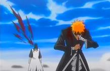 El resultado final entre Ichigo y Byakuya