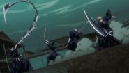 Ichigo and Rukia fight the Reigai