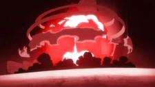 Explosión causada por el cero del Hollow Ichigo