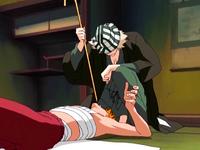 O17 Kisuke stosuje na Ichigo Shitonegaeshi