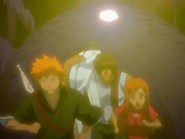 O21 Ichigo, Orihime, Sado i Uryu uciekają przed Kototsu