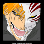 Ichigo Half Hollow Mask by Xpand Your Mind