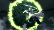 Inaba recreates Kenpachi's attack