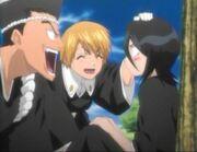 Rukia junto a Sentarou y Kiyone