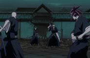 Ichigo i Rukia vs Ikkaku i Renji