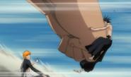 Yammy punches Kenpachi