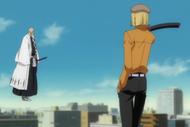 Hirako aproaches Yamamoto