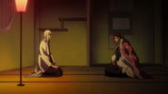 Kyoraku meets with Ukitake