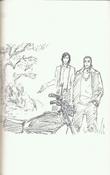 Ginjo y Shukuro apreciando la moto