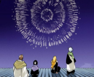 -12.5Hitsugaya, Rangiku, Hinamori, and Aizen watch