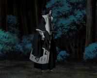 Byakuya aparece con una Inconsciente Rukia en sus brazos