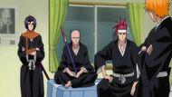 Ikkaku, Renji & Yumichika in Ichigo's room