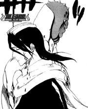 Byakuya da el golpe final a Zommari