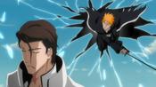 Ichigo llega a la falsa Karakura