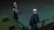 Rangiku approached by Reigai-Kira