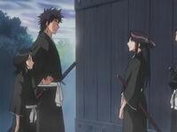 Miyako, Kaien y Rukia