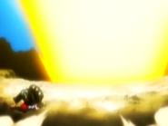O19 Kisuke ochrania Jintę i Ururu przed eksplozją Bankin Taiho