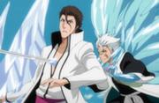 Hitsugaya menebas Aizen