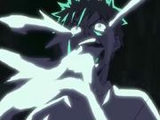 Ichigo se comienza a transformar en Hollow