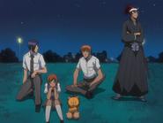 O68 Uryu, Orihime, Kon, Ichigo i Renji rozmyślają nad działaniami wroga