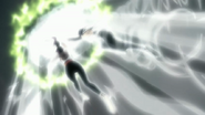 Yoruichi and Sui-Feng nullify Inaba's attack