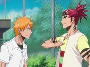 O64 Renji wyjaśnia Ichigo swoją obecność w mieście