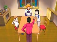 O7 Isshin, Ichigo, Karin i Yuzu na spotkaniu rodzinnym