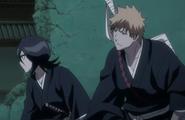 Rukia and Ichigo on the run
