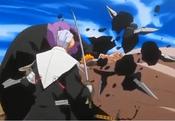 Marechiyo siendo golpeado por Ichigo