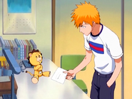 O16 Kon pokazuje Ichigo wiadomość pożegnalną