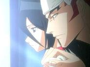 Renji y Rukia en la Torre de la Penitencia