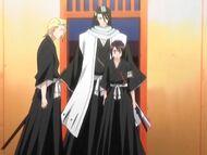 Byakuya z Kirą i Hinamori